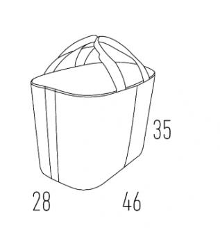 Корзина з натуральної шкіри Hansa, модель Н2