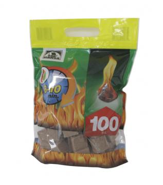 Розпалювач вогню в кубиках Hansa 100 шт. фото