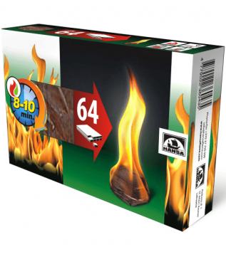 Розпалювач вогню Hansa 64 шт. фото