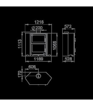 Духовка Bronpi Murano R (набір з нержавіючої сталі Kit Inox 2)