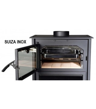 Піч Bronpi Suiza I з духовкою (нержавіюча сталь)