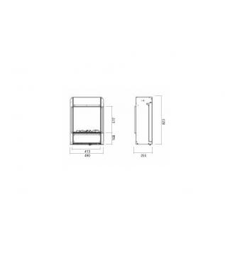 Електрокамін GlammFire Kit Glamm H3D 800
