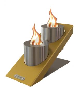 Біокамін GlammFire Оblique Tabletop Double фото