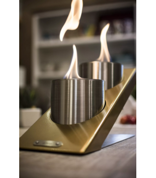 Біокамін GlammFire Оblique Tabletop Double
