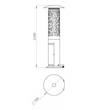 Газовий обігрівач GlammFire Tile-Hyperion