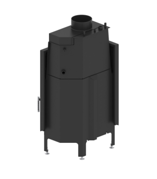 Камінна топка з водяним контуром Hitze Albero 59х43 L
