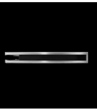 Вентиляційна решітка Hitze Slim Inox 9х80х45 Lewy