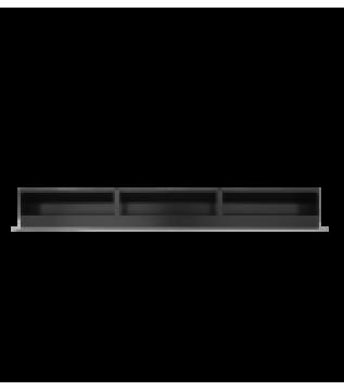 Вентиляційна решітка Hitze Slim Inox 9x80